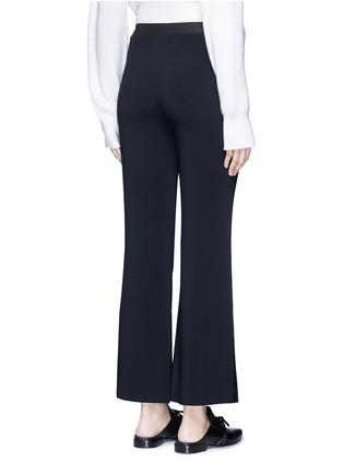 Back View - Click To Enlarge - Helmut Lang - Elastic waist mock fly flare pants