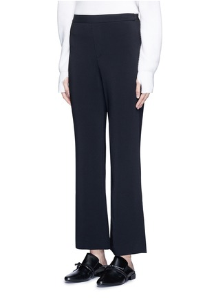 Front View - Click To Enlarge - Helmut Lang - Elastic waist mock fly flare pants