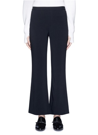Main View - Click To Enlarge - Helmut Lang - Elastic waist mock fly flare pants