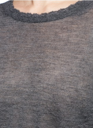Detail View - Click To Enlarge - Helmut Lang - Raw edge fine cashmere sweater