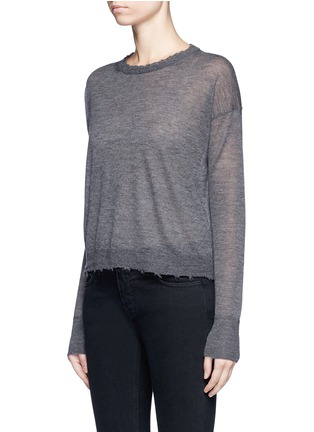 Front View - Click To Enlarge - Helmut Lang - Raw edge fine cashmere sweater