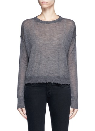 Main View - Click To Enlarge - Helmut Lang - Raw edge fine cashmere sweater