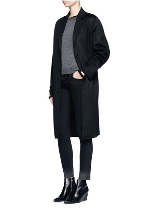 Figure View - Click To Enlarge - Helmut Lang - Raw edge fine cashmere sweater