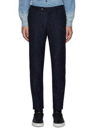 Main View - Click To Enlarge - PT TORINO - Micro Donegal Wool Silk Blend Pants