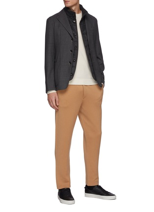 Figure View - Click To Enlarge - PT TORINO - Wool Cashmere Blend Sweatpants