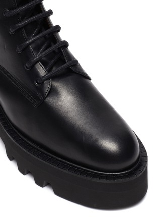 Detail View - Click To Enlarge - ATP ATELIER - Pesaro' Leather Combat Boots