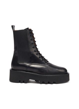 Main View - Click To Enlarge - ATP ATELIER - Pesaro' Leather Combat Boots