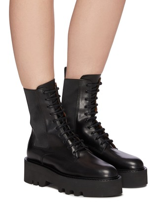 Figure View - Click To Enlarge - ATP ATELIER - Pesaro' Leather Combat Boots