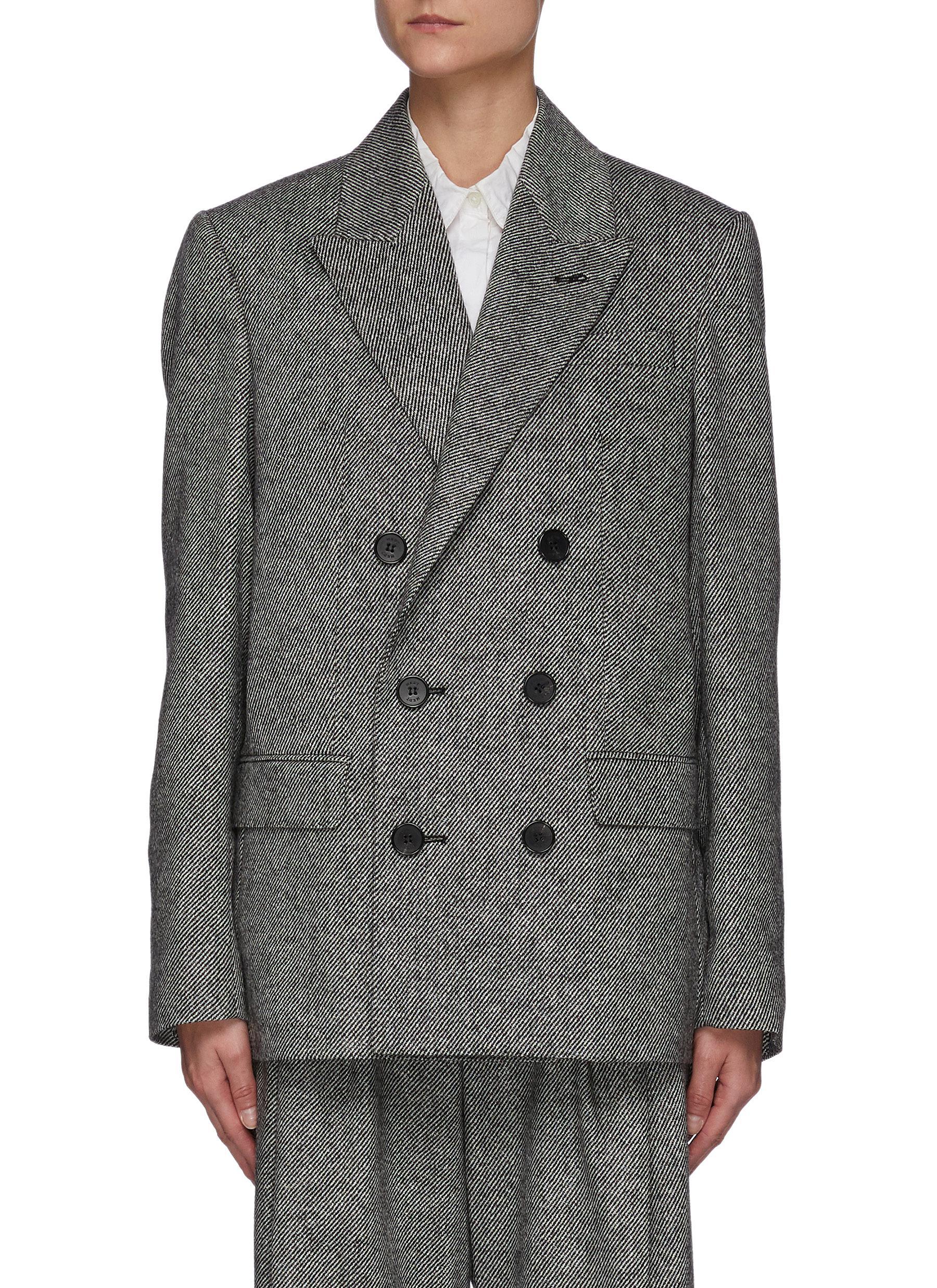 Jacob' Melange Wool Twill Blazer
