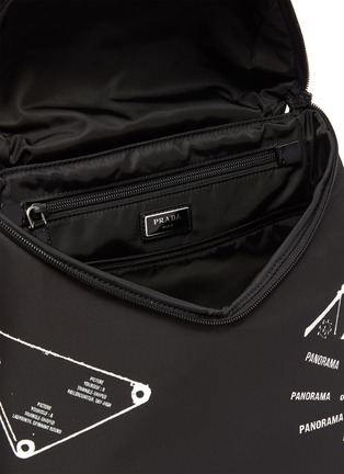 Detail View - Click To Enlarge - PRADA - 'Signaux' Graphic Print Nylon Backpack