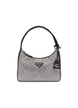 Main View - Click To Enlarge - PRADA - Crystal embellished shoulder bag