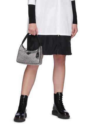Figure View - Click To Enlarge - PRADA - Crystal embellished shoulder bag