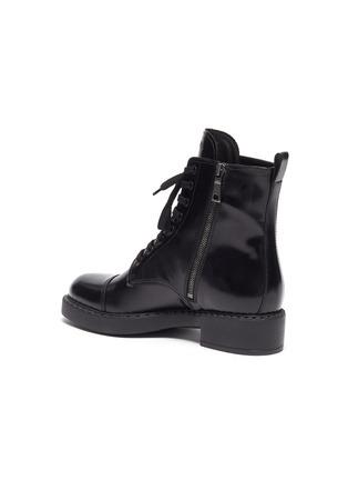 - PRADA - Spazzolato leather combat boots