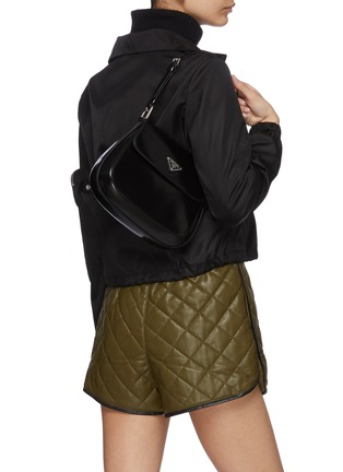 Front View - Click To Enlarge - PRADA - 'Cleo' spazzolato leather shoulder bag