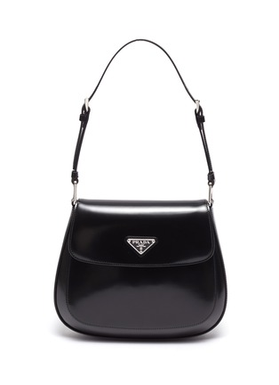 Main View - Click To Enlarge - PRADA - 'Cleo' spazzolato leather shoulder bag
