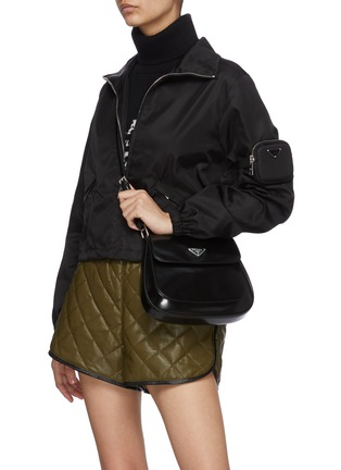Figure View - Click To Enlarge - PRADA - 'Cleo' spazzolato leather shoulder bag