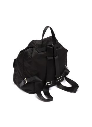 Detail View - Click To Enlarge - PRADA - 'Vela' Re-nylon backpack