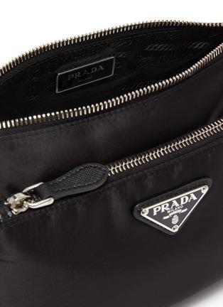 Detail View - Click To Enlarge - PRADA - Removable pocket nylon shoulder bag