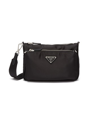 Main View - Click To Enlarge - PRADA - Removable pocket nylon shoulder bag