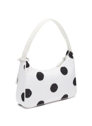 Detail View - Click To Enlarge - PRADA - Polka dot print re-nylon top handle bag