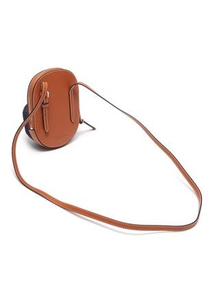 Detail View - Click To Enlarge - JW ANDERSON - Midi Cap' Leather Tongue Denim Crossbody Bag