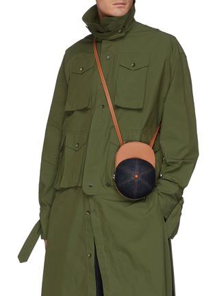 Figure View - Click To Enlarge - JW ANDERSON - Midi Cap' Leather Tongue Denim Crossbody Bag