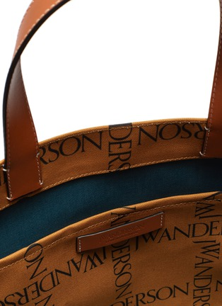 Detail View - Click To Enlarge - JW ANDERSON - Logo Grid Canvas Tote Bag