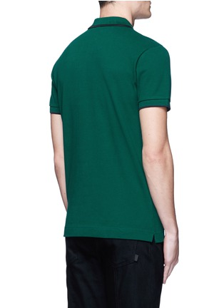 Back View - Click To Enlarge - McQ Alexander McQueen - Logo print cotton polo shirt