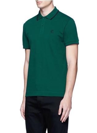 Front View - Click To Enlarge - McQ Alexander McQueen - Logo print cotton polo shirt