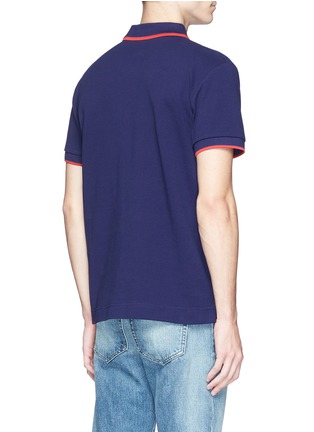Back View - Click To Enlarge - McQ Alexander McQueen - Geometric logo cotton polo shirt