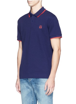 Front View - Click To Enlarge - McQ Alexander McQueen - Geometric logo cotton polo shirt