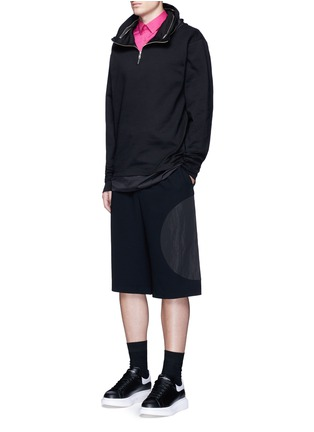 Figure View - Click To Enlarge - MCQ ALEXANDER MCQUEEN - Swallow patch harness cotton shirt
