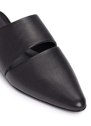 Detail View - Click To Enlarge - Opening Ceremony - 'Livre' cutout leather mules