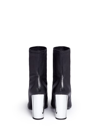 Back View - Click To Enlarge - Opening Ceremony - 'Zloty' metallic heel leather mid calf boots