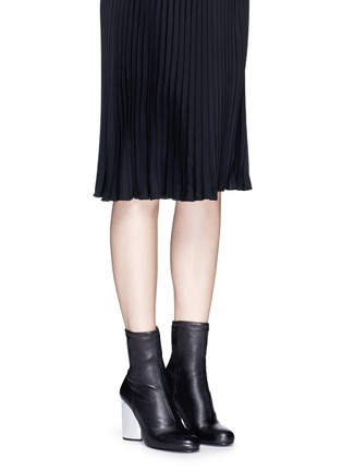 Figure View - Click To Enlarge - Opening Ceremony - 'Zloty' metallic heel leather mid calf boots