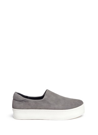 Main View - Click To Enlarge - Opening Ceremony - 'Cici' suede flatform skate slip-ons