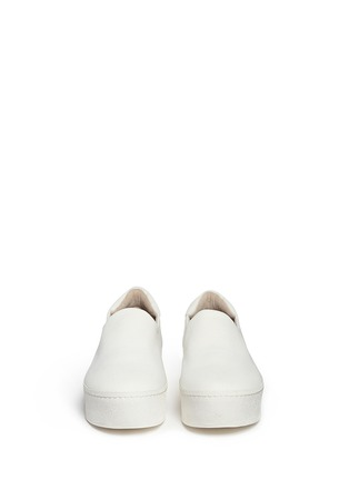 Front View - Click To Enlarge - Opening Ceremony - 'Cici' twill flatform skate slip-ons
