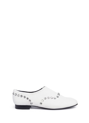 Main View - Click To Enlarge - OPENING CEREMONY - 'Charly' jewel leather slip-ons