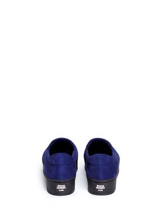 Back View - Click To Enlarge - OPENING CEREMONY - 'Cici' suede flatform skate slip-ons