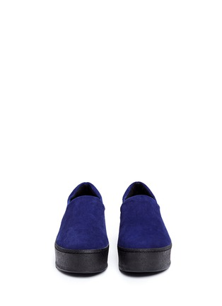 Front View - Click To Enlarge - OPENING CEREMONY - 'Cici' suede flatform skate slip-ons