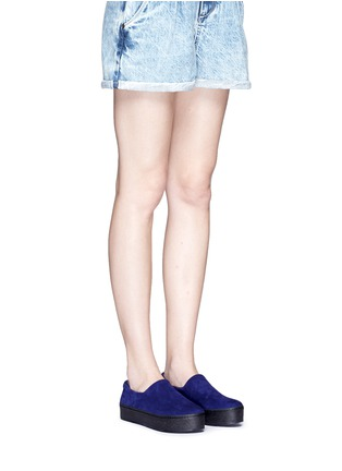 Figure View - Click To Enlarge - OPENING CEREMONY - 'Cici' suede flatform skate slip-ons