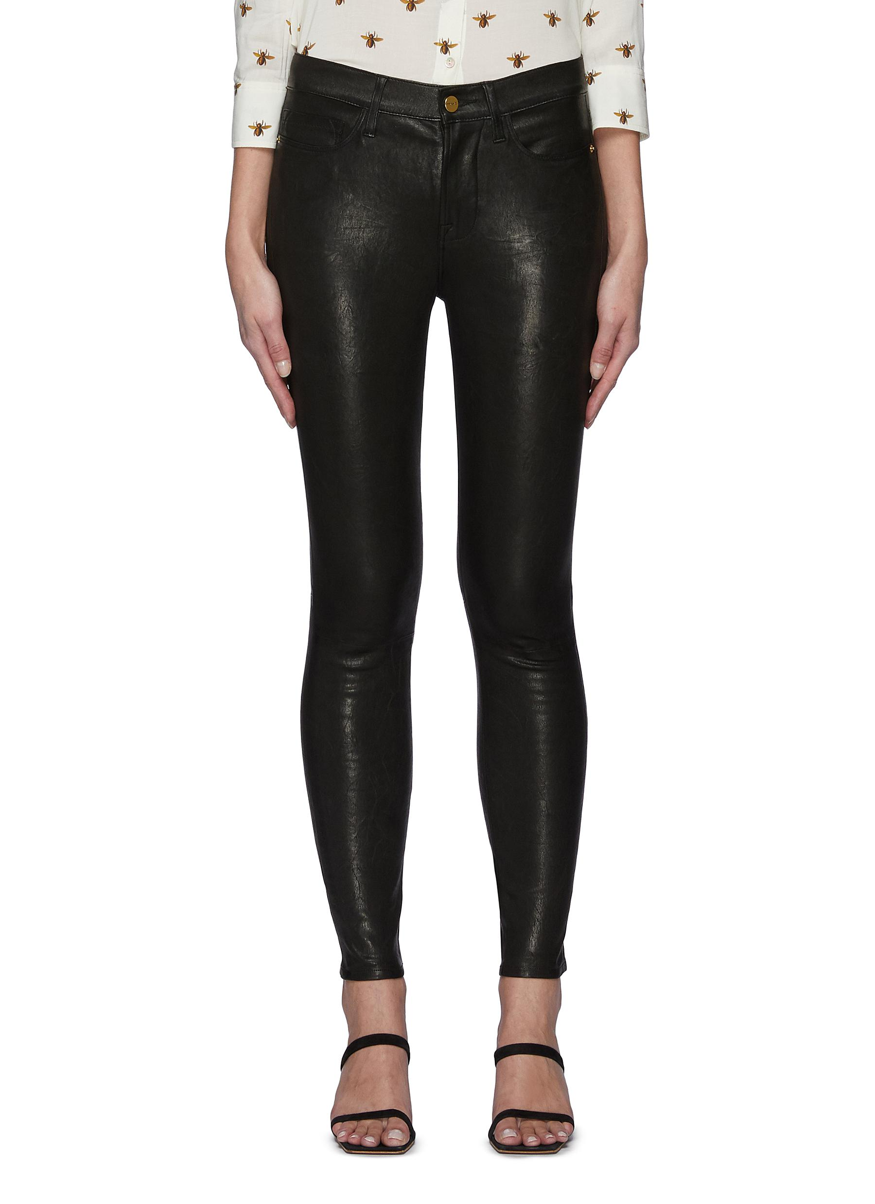 Core Le High Skinny Leather Jeans