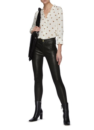 Figure View - Click To Enlarge - FRAME DENIM - Core Le High Skinny Leather Jeans