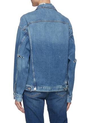 Back View - Click To Enlarge - FRAME DENIM - Cut Out Denim Jacket