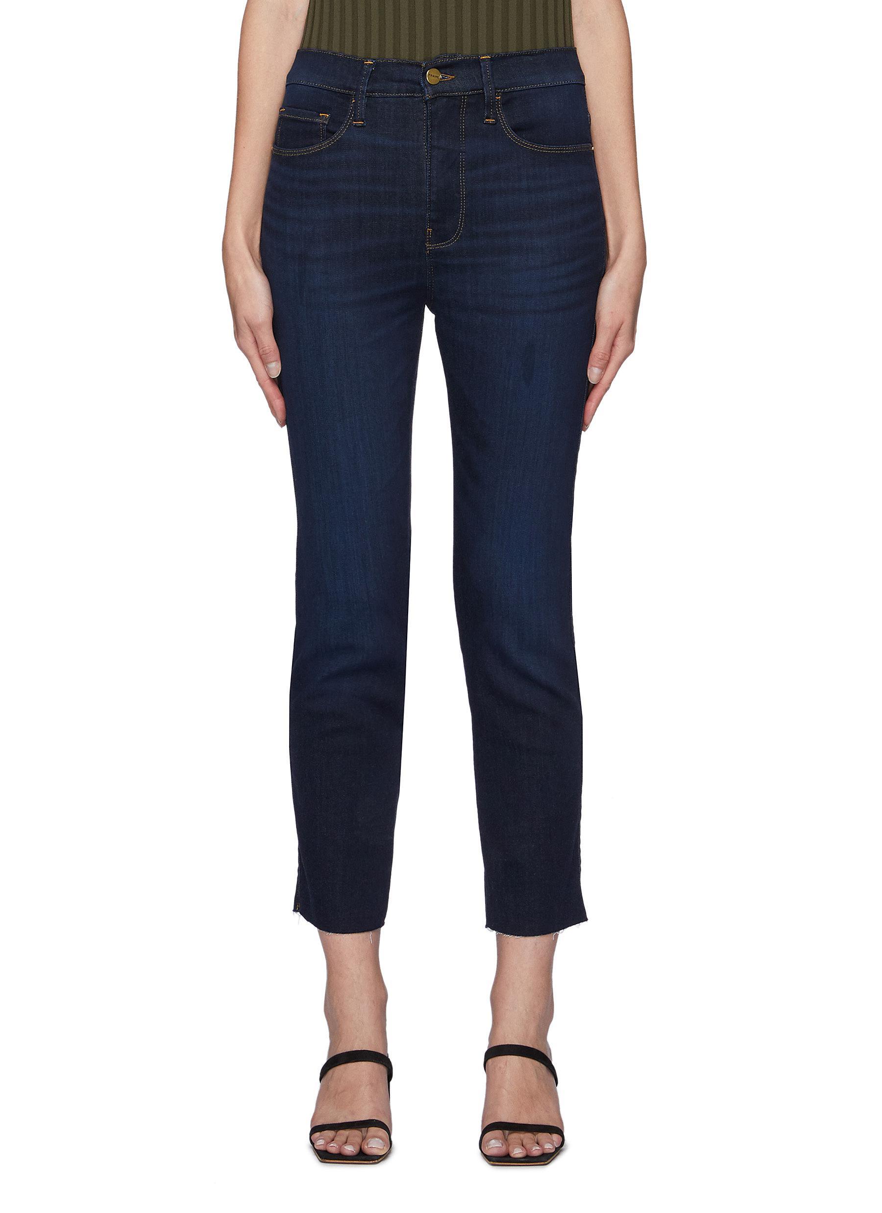 Le Pize Silvie Raw After Dark Indigo Wash Slim Straight Jeans
