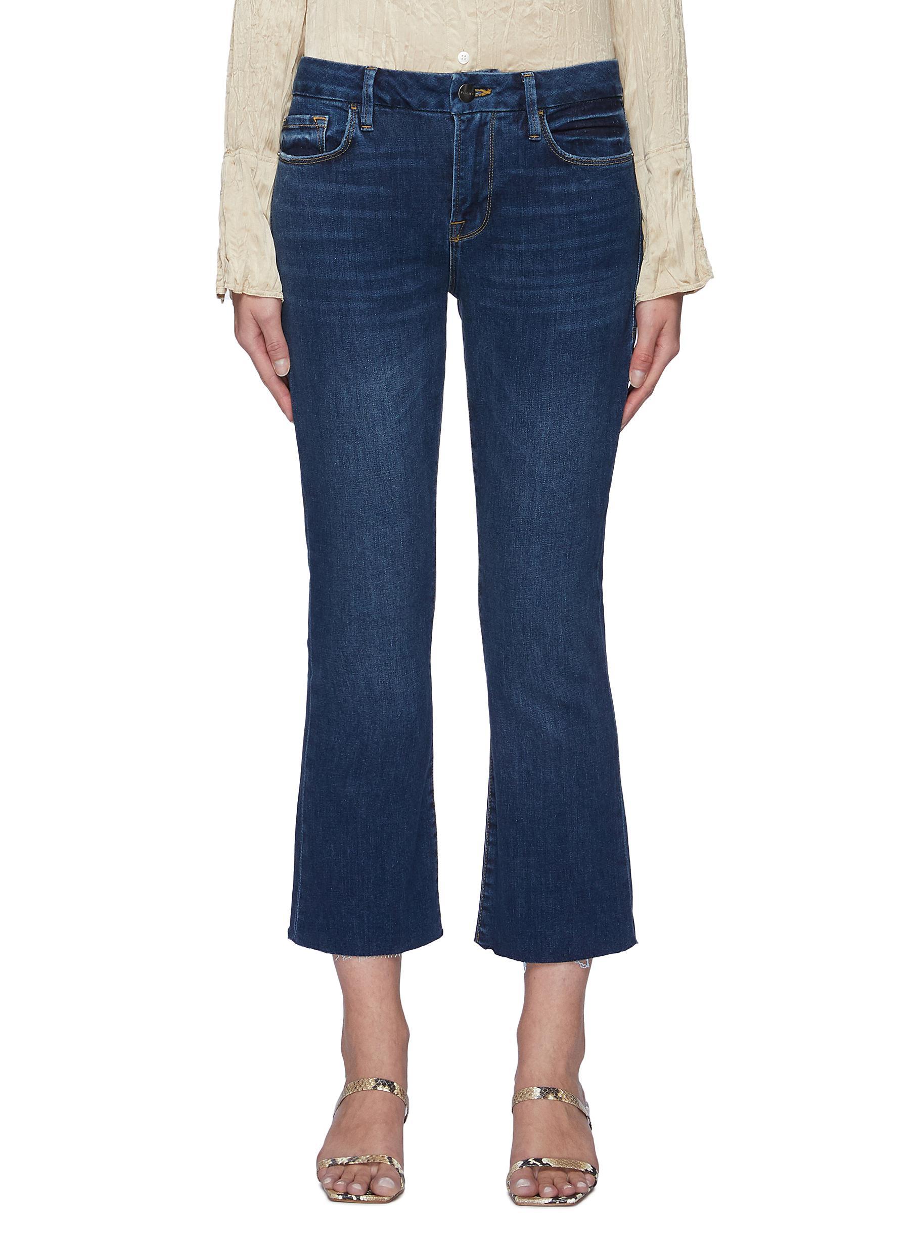 Le Crop Mini Boot Raw After Purify Medium Wash Jean