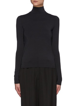 Main View - Click To Enlarge - VINCE - Long Sleeved Turtleneck Top