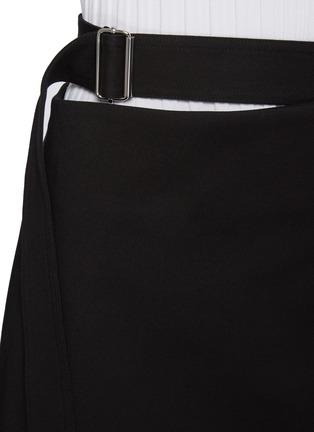 - HELMUT LANG - Belted Cotton Blend Wrap 'Rider' Mini Skirt