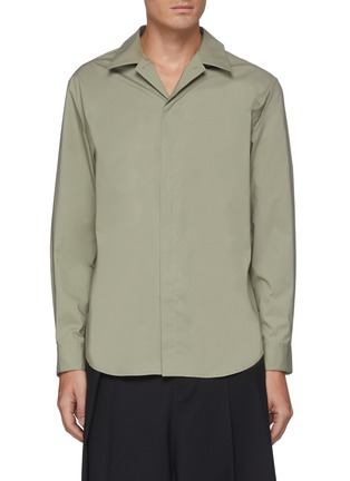 Main View - Click To Enlarge - SOLID HOMME - Concealed placket shirt