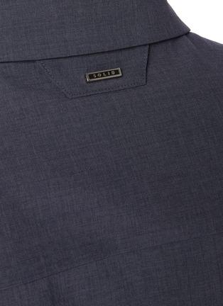 - SOLID HOMME - Concealed placket shirt